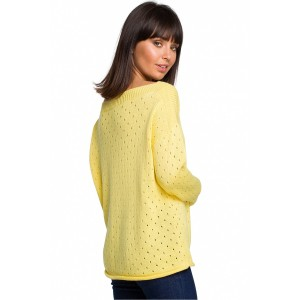 Pulover BE Knit 129164, rumena